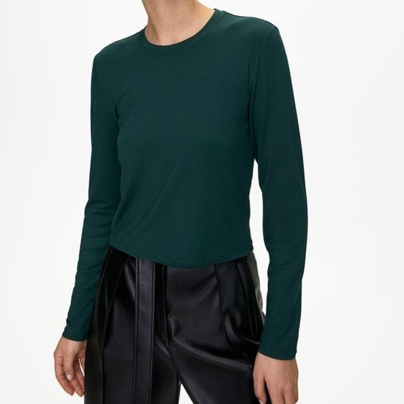 ARITZIA BABATON Evergreen Long Sleeve Top